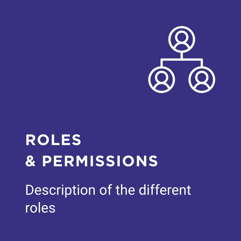 FAQ roles and permissions icon