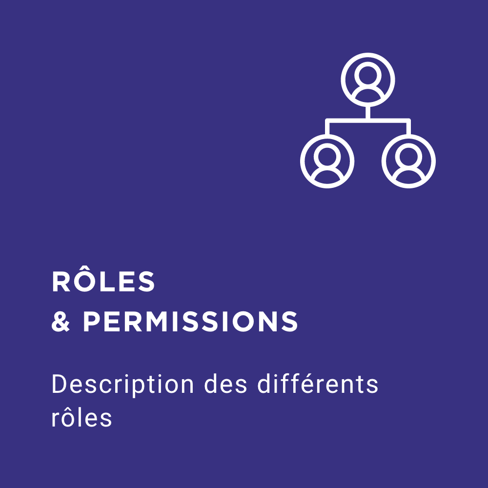 FAQ roles and permissions icon